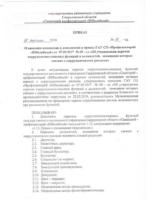 Приказ о внесении изменений в приказ Об утверждении перечня коррупционно опасных функций и должностей