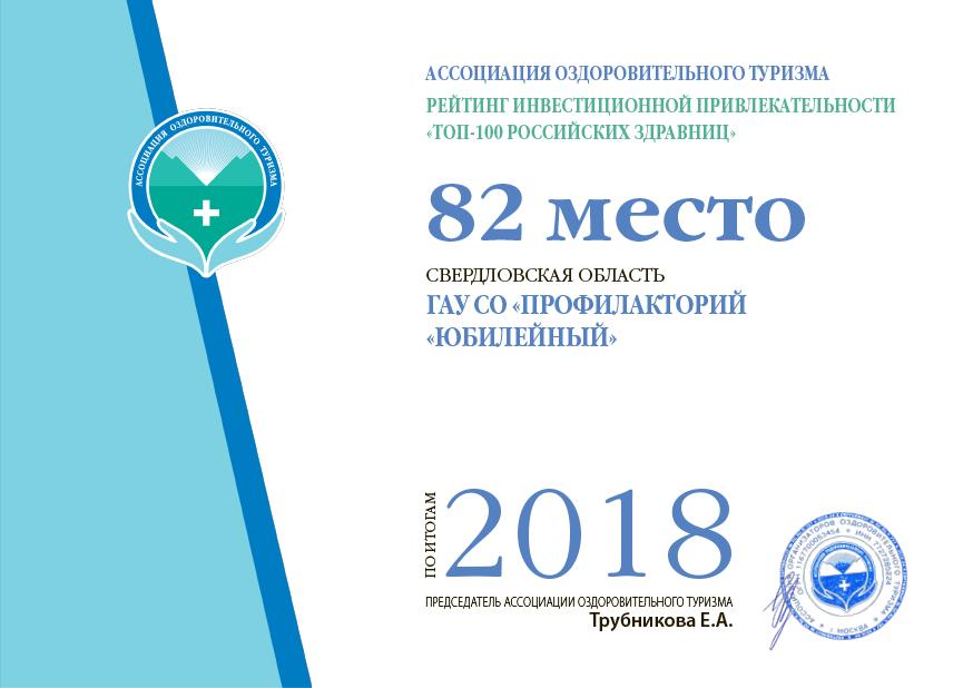 82 место в ТОП-100 здравниц России